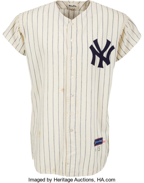 20e31ea83 1963 Mickey Mantle Game Worn New York Yankees Jersey