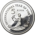 """Papua New Guinea, Papua New Guinea: Papua New Guinea. Constitutional Monarchy silver """"Year of the Child"""" Proof Piefort 5 Kina 1981 PR66 Ultra Cameo NGC,..."""
