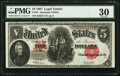Large Size:Legal Tender Notes, Fr. 91 $5 1907 Legal Tender PMG Very Fine 30.. ...