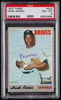 Baseball Cards:Singles (1970-Now), 1970 Topps Hank Aaron #500 PSA NM-MT 8....