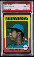 Baseball Cards:Singles (1970-Now), 1975 Topps Mini Hank Aaron #660 PSA NM-MT 8....