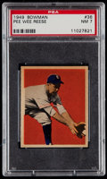 Baseball Cards:Singles (1940-1949), 1949 Bowman Pee Wee Reese #36 PSA NM 7....