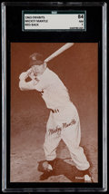 Baseball Cards:Singles (1960-1969), 1963 Exhibits Red Statistic Back Mickey Mantle SGC 84 NM 7....
