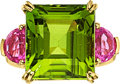 Estate Jewelry:Rings, Peridot, Pink Tourmaline, Gold Ring . ...