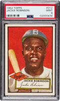 Baseball Cards:Singles (1950-1959), 1952 Topps Jackie Robinson #312 PSA Mint 9 - None Higher! ...