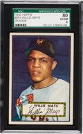 Baseball Cards:Singles (1950-1959), 1952 Topps Willie Mays #261 SGC 80 EX/NM 6....