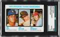 Baseball Cards:Singles (1970-Now), 1973 Topps Mike Schmidt - Rookie 3rd Basemen #615 SGC 92 NM/MT+ 8.5....