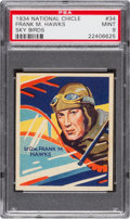 "Non-Sport Cards:Singles (Pre-1950), 1934 National Chicle ""Sky Birds"" Frank Hawks #34 PSA Mint 9 - PopTwo, None Higher. ..."