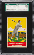 Baseball Cards:Singles (1930-1939), 1933 Delong Rabbit Maranville #13 SGC 86 NM 7 - Only One Higher....