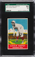 Baseball Cards:Singles (1930-1939), 1933 Delong Chick Hafey #19 SGC 84 NM 7 - Pop One, One Higher. ...