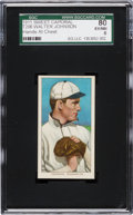 Baseball Cards:Singles (Pre-1930), 1909-11 T206 Sweet Caporal Walter Johnson (Hands at Chest-Factory 42 Overprint) SGC 80 EX/MT 6. ...