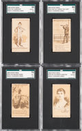 Non-Sport Cards:Singles (Pre-1950), 1889 N223 Kinney Bros Magic Changing Cards Collection (17) WithFour SGC Graded Cards. ...