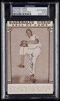 """Autographs:Sports Cards, Signed Satchell Paige """"Baseball's Great"""" Exhibit Card PSA/DNA Authentic. ..."""