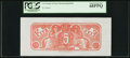 Confederate Notes:Group Lots, $5 Chemicograph Back Intended for Confederate Currency ND (1864).. ...