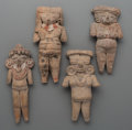 Pre-Columbian:Ceramics, Four Exceptional Large Chupicuaro / Michoacan Flat FemaleFigures... (Total: 4 Items)