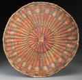American Indian Art:Baskets, A Hopi Wicker Plaque...