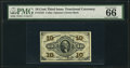 Fractional Currency:Third Issue, Fr. 1255 10¢ Third Issue PMG Gem Uncirculated 66.. ...