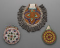 American Indian Art:Beadwork and Quillwork, Three Apache Beaded Hide Pouches... (Total: 3 Items)
