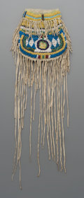 American Indian Art:Beadwork and Quillwork, An Apache Beaded Hide Pouch ...