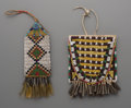 American Indian Art:Beadwork and Quillwork, Two Sioux Beaded Hide Pouches ... (Total: 2 Items)