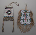 American Indian Art:Beadwork and Quillwork, Two Plains Beaded Hide Pouches... (Total: 2 Items)