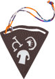 """Hermes Petit H Anemone Epsom & Chocolate Clemence Leather Pizza Charm Condition: SF1  3.5"""" Wi"""