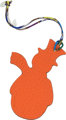 Hermes Petit H Etain Epsom & Orange Puppy Clemence Leather Snowman Charm Condition: SF1  2.5""