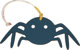 "Hermes Petit H Colvert Epsom & Anemone Togo Leather Spider Charm Condition: SF1  6.5"" Width x"