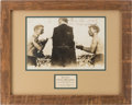Boxing Collectibles:Autographs, 1912 Abe Attell Signed Photograph from Harlem Tommy Murphy Fight. ...