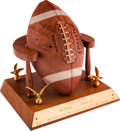 Football Collectibles:Others, 1967 Houston Oilers Eastern Division AFL Champions Game Football Display Presented to Bud Adams....