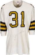 Football Collectibles:Uniforms, 1967 Jim Taylor Game Worn & Signed New Orleans Saints Jersey - With Team Letter!...