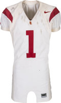 Football Collectibles:Uniforms, 2002 Mike Williams Game Worn, Unwashed & Signed USC Trojans Jersey....
