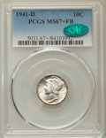 Mercury Dimes, 1941-D 10C MS67+ Full Bands PCGS. CAC. PCGS Population: (654/30). NGC Census: (484/6). CDN: $130 Whsle. Bid for problem-fre...