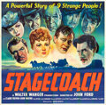 "Movie Posters:Western, Stagecoach (United Artists, 1939). Six Sheet (78.75"" X 80.25"")....."
