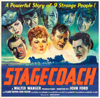 "Stagecoach (United Artists, 1939). Six Sheet (78.75"" X 80.25"")"