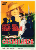 "Movie Posters:Academy Award Winners, Casablanca (United Artists, R-1962). Italian 2 - Fogli (39"" X 55"")Silvano ""Nano"" Campeggi Artwork.. ..."