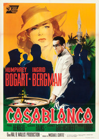 "Casablanca (United Artists, R-1962). Italian 2 - Fogli (39"" X 55"") Silvano ""Nano"" Campeggi Artwork..."