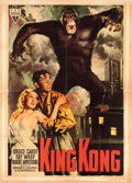 "Movie Posters:Horror, King Kong (RKO, R-1949). Italian 4 - Fogli (55"" X 76"") AverardoCiriello Artwork.. ..."