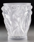 Art Glass:Lalique, Lalique Frosted Glass Bacchantes Vase. Post-1945. EngravedLalique, France. Ht. 9-5/8 in. . ...