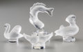 Art Glass:Lalique, Four Lalique Frosted Glass Animal Figures. Post-1945. EngravedLalique, France. Ht. 3-3/4 in.. ... (Total: 4 Items)