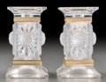 Art Glass:Lalique, Pair of Lalique Frosted Glass Paquerettes Candlesticks.Post-1945. Engraved Lalique, France. Ht. 5-1/8 in. ...(Total: 2 Items)