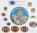 Football Collectibles:Others, Football Pins, Buttons and Cuff Links Collection (13)....