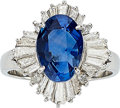 Estate Jewelry:Rings, Ceylon Sapphire, Diamond, Platinum Ring . ...