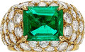 Estate Jewelry:Rings, Colombian Emerald, Diamond, Gold Ring, French. ...