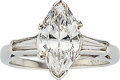Estate Jewelry:Rings, Diamond, Platinum Ring  The ring features a ma...