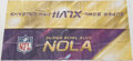 Football Collectibles:Others, Super Bowl XLVII New Orleans Banners (3). ...
