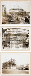 Miscellaneous Collectibles:General, Extremely Rare Chicago Stadium Construction Photos (3 Photos). ...
