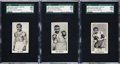 """Boxing Cards:General, 1938 Cartledge Razor """"Famous Prize Fighters"""" SGC 98 Gem 10 Trio (3). ..."""