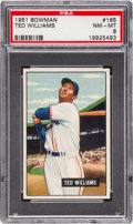 Baseball Cards:Singles (1950-1959), 1951 Bowman Ted Williams #165 PSA NM-MT 8....