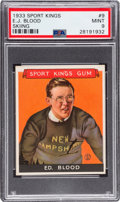 Olympic Cards:General, 1933 Sport Kings Ed Blood #9 PSA Mint 9 - Pop One, None Higher!...